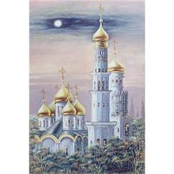 """Moscow Kremlin, Belfry of Ivan the Great"" oil #2390700"