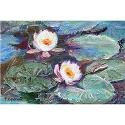 "Impressionism oil ""Water Lilies"" by Sorokina T.#2390702"