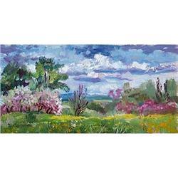 "Impressionism oil ""Blossom Apple-tree"" #2390703"