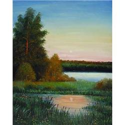 Impressionism oil  At daybreak  by Russian #2390704