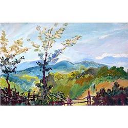 """Shumadija an etude"" impressionism oil. #2390705"