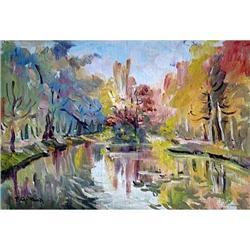 """Oleni ponds"" oil in impressionism style. #2390706"