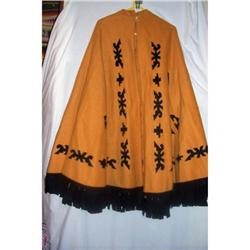 Vintage Art Deco Wool Mexican Aztec Cape #2390721