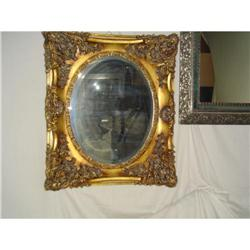 Rococo double carved frame beveled mirror #2390730