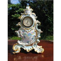 EARLY HAND PAINTED LIMOGES  CLOCK #2390770