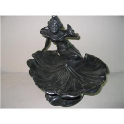 ART NOUVEAU LADY SEATED ON LARGE LILLY PAD  #2390779
