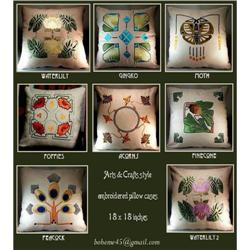 6 ARTS & CRATS EMBROIDERED PILLOWS #2390783
