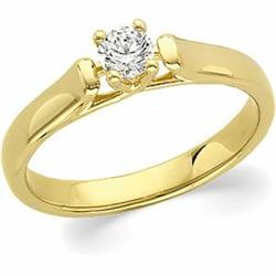 GOLD DIAMOND ENGAGEMENT RING  .25 CARATS! #2390792
