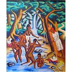 Haitian Painting by Castera Bazile, '51 #2390797