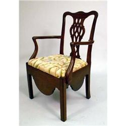 George III Walnut Commode Chair #2390798