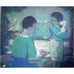 """Beautiful Oil on Canvas Painting, """"Tender"""" #2390810"""