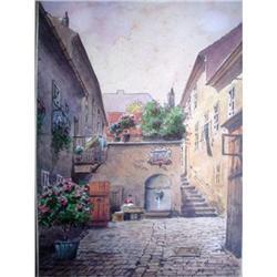 "AMAZING Watercolor, ""Interior City"" #2390811"
