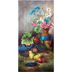 "RARE Emilie Preyer's Oil Painting, ""Still Life""#2390812"