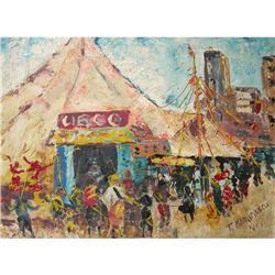 "Amazing Tadashi Kaminagai Painting, ""Circus"" #2390817"