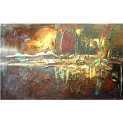 Amazing Emil Giller Abstract Oil Painting #2390820