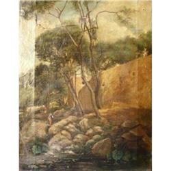 Att. Charles François Daubigny Oil Painting, #2390823