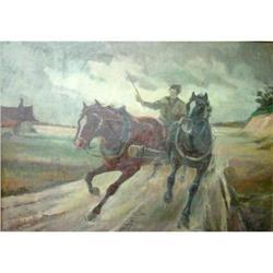 Magnificent Janos VISKI Oil Painting Horses #2390828