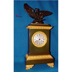 Fabulous and Gorgeous Bronze Mantel Clock !! #2390831