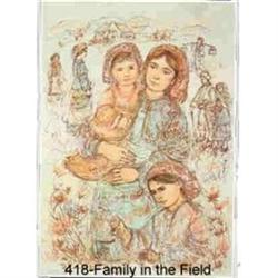 Family in the Field   lithograph signed& #2390836