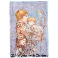 Woman with Children by Edna HIbel  HUGE #2390837