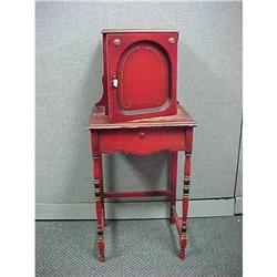 Vintage Red Telephone Stand #2390861