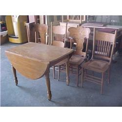 Antique Table and 4 Chairs #2390862