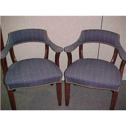 Arm Chair Pair in Navy #2390863