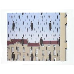 Rene Magritte La Golconde Lithograph #2390865