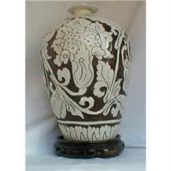 CIZHOU SGRAFFITO INCISED PEONY  VASE, Chinese #2390876