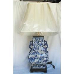 CHINESE BLUE AND WHITE VASE LAMPS,HAND PAINTED #2390877