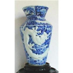 ARITA BLUE AND WHITE DRAGON VASE, EDO Japanese #2390886