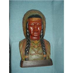 Carved Indian  bust #2390931