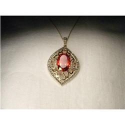 Rare 14K YG Gold Mystic Topaz Diamond Necklace #2391144
