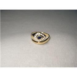 14K Gold Sapphire Diamond Cobra Snake Ring #2391152