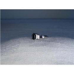Rare Estate 14K WG Gold Sapphire Diamond Ring #2391164