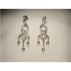 Estate 14K WG Gold Diamond Chandelier Earrings #2391176