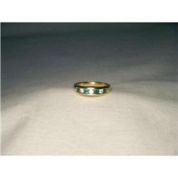 14K Designer Emerald Diamond Stacking Love Band#2391180