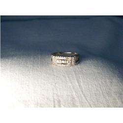 Rare Estate Platinum Diamond Wedding Band Ring #2391201