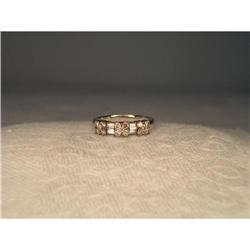 Estate 14K WG Champagne Diamond Floral Ring #2391204