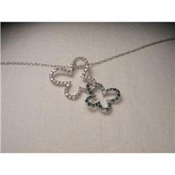 Estate 14K WG Gold Diamond Butterfly Pendant #2391214