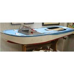 Huge Wood Pre R/C Electric Speed Boat Model #2391245
