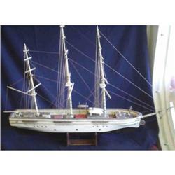 Antique Wood Sailing Ocean Liner Ship Model #2391248