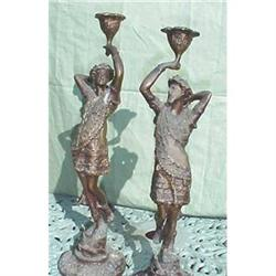 Antique Bronze figural candleholders #2391257