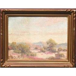 Signed Herbert Sartelle Desert painting #2391258