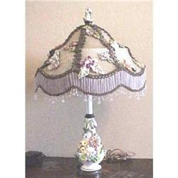 applied floral lamp base with custom shade #2391259