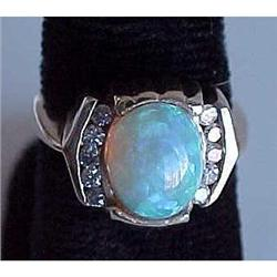 Opal and diamond ladies ring #2391262