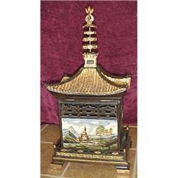 Ornate  handpainted Chinese treasure box #2391263