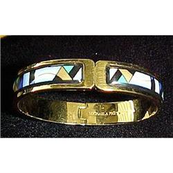 Michaela Frey enamel and gold cuff bracelet #2391265