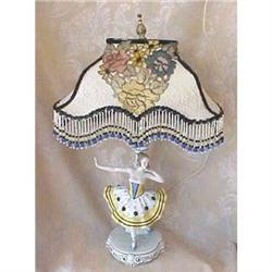 Porcelain ballerina lamp custom shade #2391268