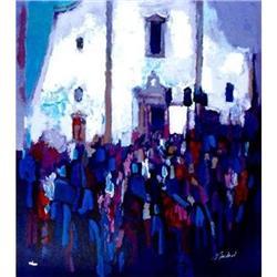 Simbari, Piazza del Duono, Serigraph, H/S #2391282